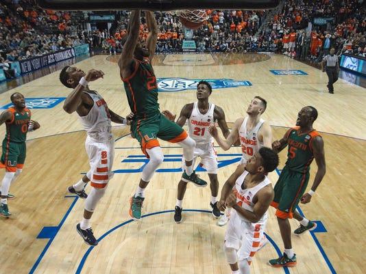 NCAA Basketball ACC Conference Tournament Syracuse vs Miami