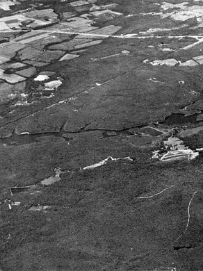 1973: An aerial view of Great Adventure