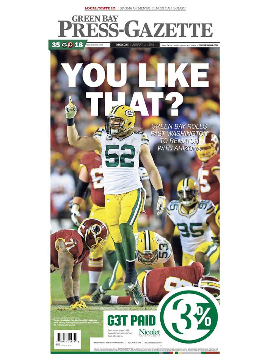 Game 17: Packers 35, Washington 18