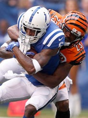 Indianapolis Colts wide receiver JoJo Natson (6) is