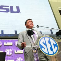 Replacing Canada with Ensminger last year still hot question for Orgeron at SEC Media Days