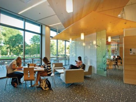 The Behavioral Sciences Building captures light and nature in a space that is both grand and personal.