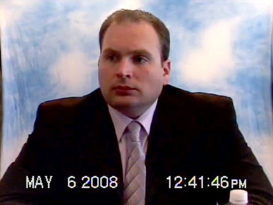 Matt Cahill is shown in an image from a 2008 videotaped