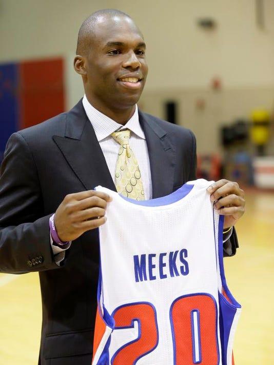 Pistons Meeks Basketball