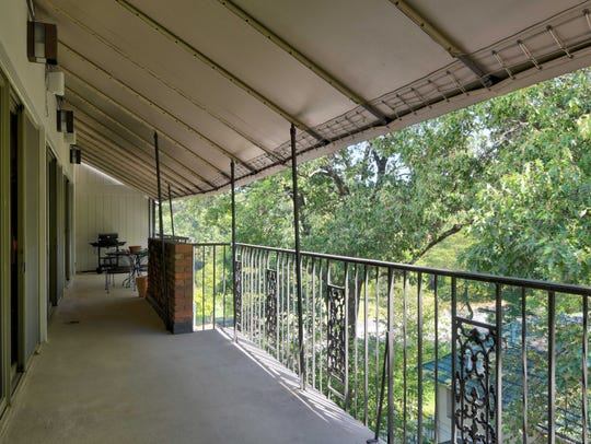 Most rooms open to east-facing balcony