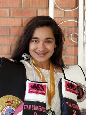 """Marisol """"Dangerous"""" Denogean is chasing a regional Junior Olympics boxing title when she steps into the ring on may 26-28, in Denver, CO. Denogean is a two-time New Mexico Jr. Olympics State Champion."""