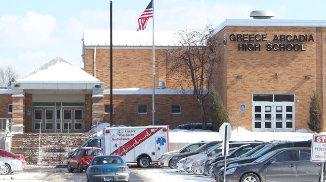 Several ambulances responded to Greece Arcadia High School Friday.