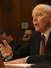 IRS Commissioner John Koskinen testifies at a Senate