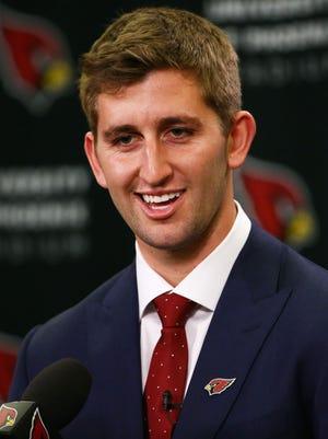 Arizona Cardinals introduce their first-round draft pick, UCLA quarterback Josh Rosen on Apr. 27, 2018 at the Arizona Cardinals Training Facility in Tempe, Ariz.