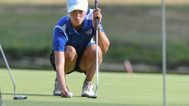 Lake's Kate Potashnik, shown here at last year's Hoover Midwest Golf Classic, helped lead the Blue Streaks to the Lady Spartan Invitational team title on Monday.