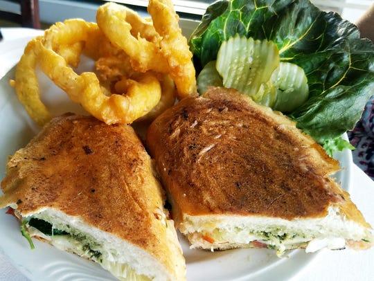Josephine's Cafe & Bistro's Chicken Artichoke Panini
