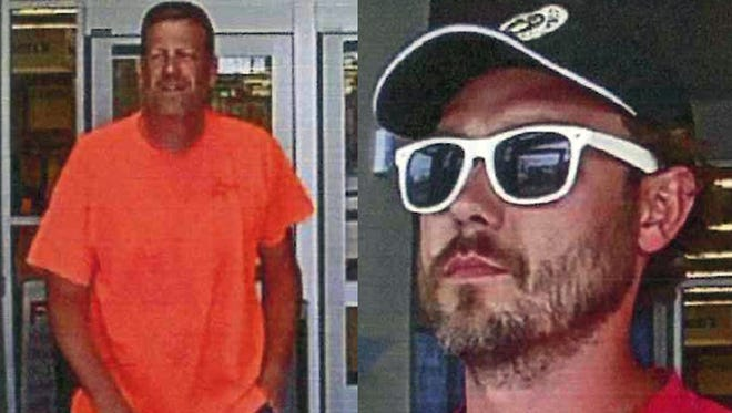 Chesterfield Township Police are looking for two men suspected in the theft of $800