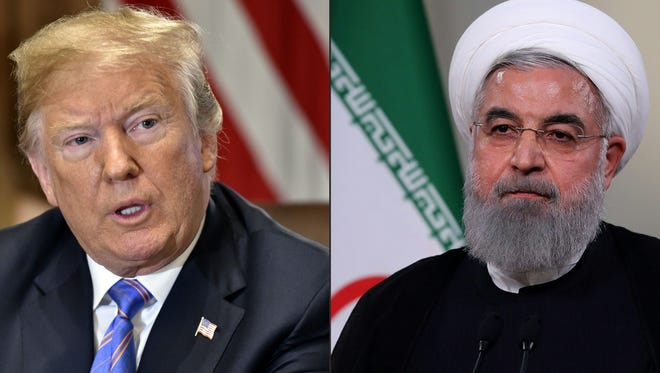 President Donald Trump and Iran President Hassan Rouhani.