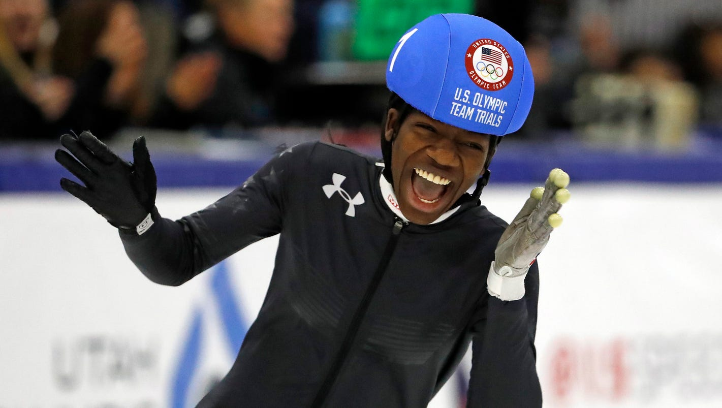 Maame Biney is first black woman to make Olympic speedskating team