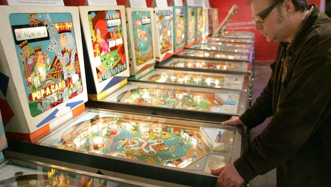 Play old-school arcade games at Silver Ball Museum in Asbury Park on a winter day.