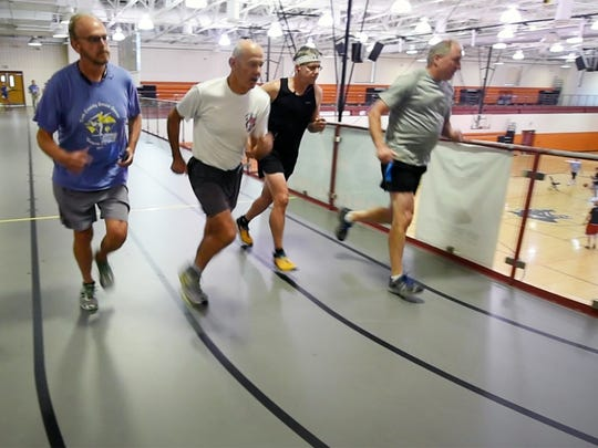 Runners begin racing the 5K during the York County Senior Games at Central York High School.