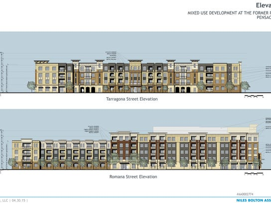 Studer apartment building elevations revealed for Architectural concepts pensacola florida