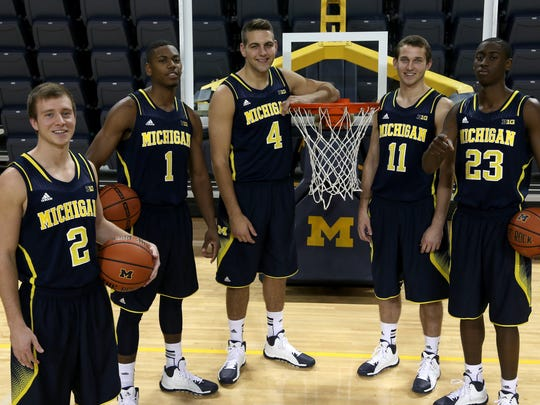 From left, Michigan's 2012-13 recruiting class: Spike