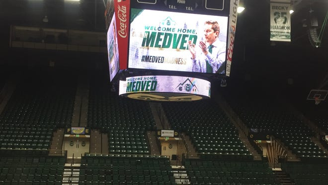 Niko Medved is being introduced as the next CSU men's basketball coach on Friday.