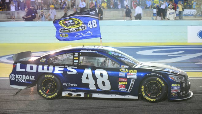 Six-time Sprint Cup champion Jimmie Johnson says he has asked sponsor Lowe's to return the No. 48 Chevrolet to a blue paint scheme for better luck.