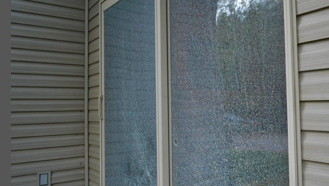 Sometime between July 5 and 12, someone broke both windows on a patio door of a house, located on County Line Road in the town of Bevent.