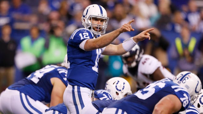 Colts QB Andrew Luck missed the first games of his NFL career in 2015.