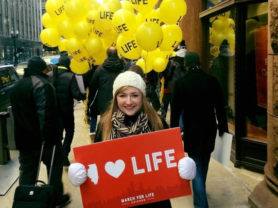 Christen Pollo at the 2016 Chicago March for Life.