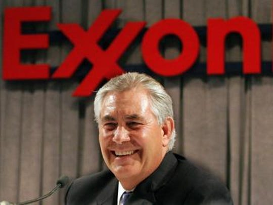 Rex Tillerson, ExxonMobil CEO and Donald Trump's pick for secretary of State.