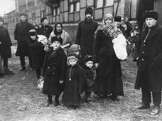 Volga German immigrants from the village of Hermann, Russia.