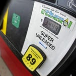 A motorist fills up with gasoline containing ethanol in Des Moines, Iowa.