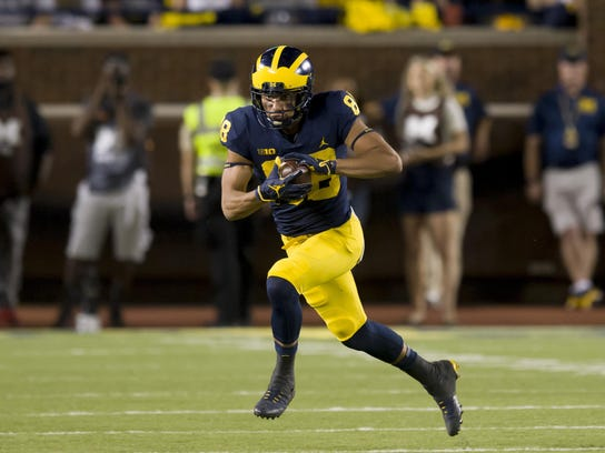 Michigan junior Grant Perry is a veteran among a young