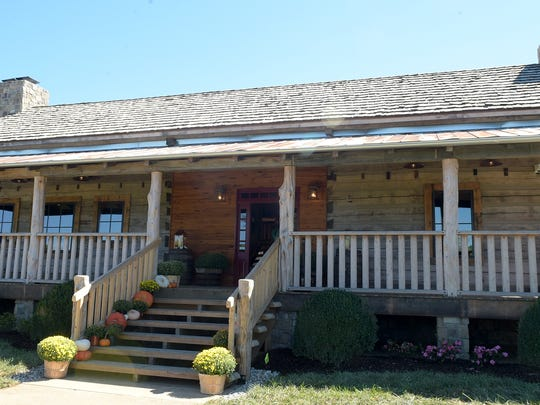 Leipers Fork Distillery's offices, tasting room and retail shop is located in a 200-year-old log cabin.