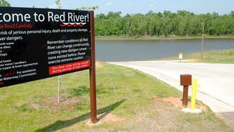 Public boat ramps along the Red River, including this one in the Poland area, are being temporarily closed because of high water.