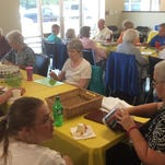 Seniors enjoy a game of Bingo at the new Pickens County Meals on Wheels center in Liberty.