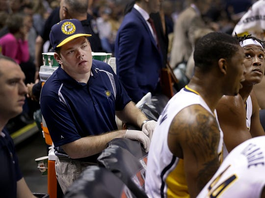 """""""I'd do anything for them,"""" Matt Hayden says of the Pacers."""