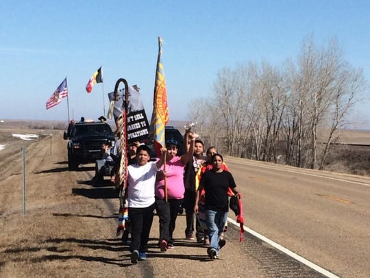 An 85-mile prayer walk to bring awareness to the Keystone XL pipeline project, to be built just off the Fort Peck Reservation, was held on the reservation.