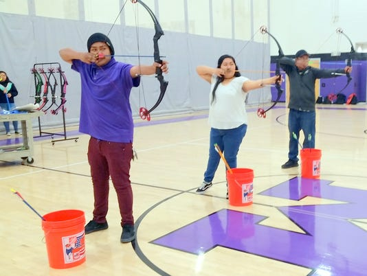 members of mescalero archery team