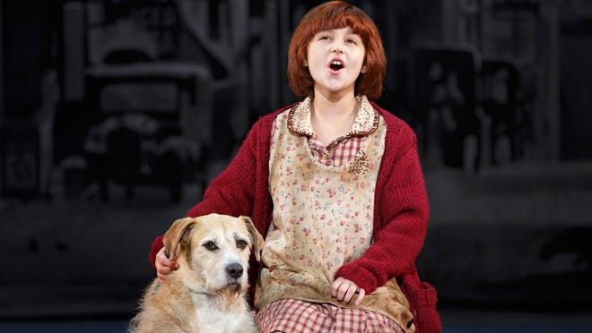 Issie Swickle stars in Annie, on stage at the Auditorium Theatre.