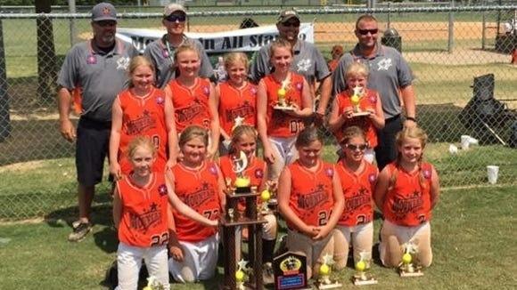The Mountain All-Stars 10U softball team.