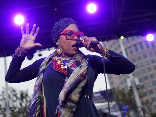 Dee Dee Bridgewater performs at the Carhartt Amphitheater
