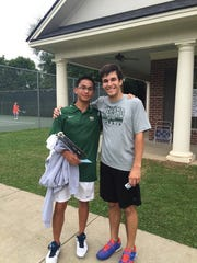 Justin Urbi (left) and Kolton Acuna won the LHSAA Division III boys doubles title last May.