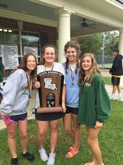 The Menard girls finished second in the LHSAA Division III tennis meet.
