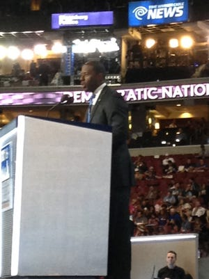 Mayor Andrew Gillum speaks at the Democratic National Convention.