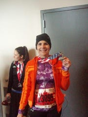A photo from Janis Seabolt's first Freep half marathon on chemo (2013).