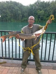 Danny Robinson caught this 4-foot muskie last year