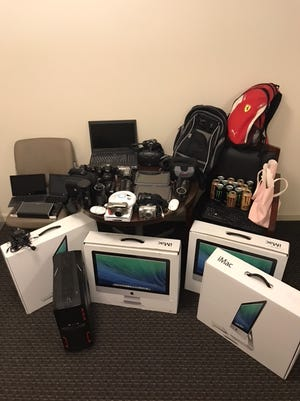 Items stolen in a series of burglaries on the University of Louisiana at Lafayette campus included several iMac computers, speakers, laptops, cameras and various other items, totaling between $15,000 and $20,000. Six non-students were arrested in connection to the burglaries.