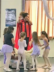 "Joey Garcia reprises his role as Uncle Drosselmeyer in the Dali Ballet Company's production of ""The Nutcracker."""