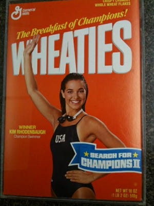 Kim Rhodenbaugh was the first female high school athlete to be featured on the Wheaties cereal's box.