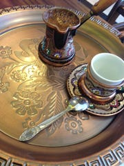 Burek serves a traditional Turkish coffee.