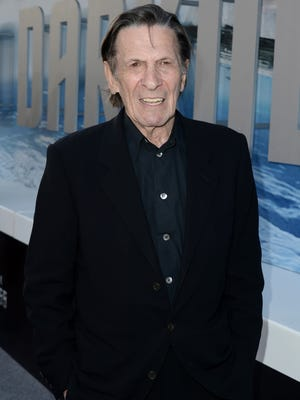 "Actor Leonard Nimoy arrives at the Premiere of Paramount Pictures' ""Star Trek Into Darkness"" at Dolby Theatre on May 14, 2013 in Hollywood, California."